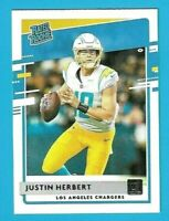 2020 JUSTIN HERBERT RC GLOSSY DONRUSS RATED ROOKIE CARD #303 CHARGERS PSA 10?