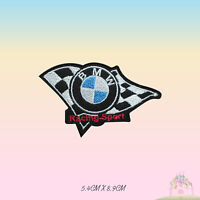 BMW Racing Sport Car Brand Logo Embroidered Iron On Patch Sew On Badge Applique