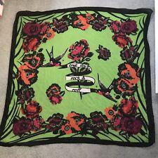 Ladies Green Floral Rock & Roll Scarf