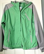 Women Free Country Windbreaker Jacket Size XL Green Gray Zip Up Hood NWT