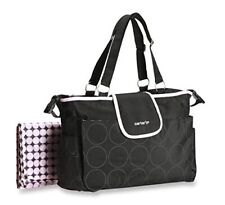 Carter's Pink/Black Tote Diaper Bag w/ 7 Storage Pockets & Wipeable Changing Pad