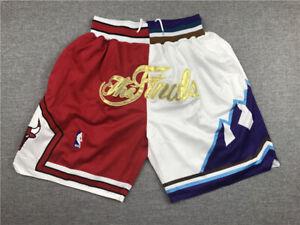 1997 Chicago Bulls & Utah Jazz Finals Edition Retro Basketball Shorts