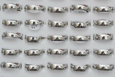 Fashion 12ps Wholesale Jewelry Lots Unisex Stainless Steel Simple Band Ring FREE