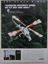 1/1997 PUB KAMAN HELICOPTER HELICOPTERE KAMAN K-MAX HELI-UNION JUNGLE BOLIVIA AD
