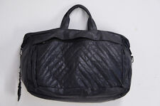 Authentic A/X Armani Exchange Boston Bag Black Leather Free Shipping 948v05