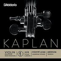 D'Addario Kaplan Non-Whistling Violin Aluminum Wound E String, 4/4 Scale