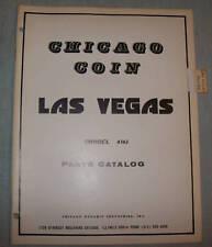 ORIGINAL CHICAGO COIN LAS VEGAS PARTS CATALOG