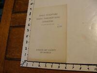 vintage Art Book/Catalog: SMALL SCULPTURE SHANG THROUGH SUNG DYNASTIES, 1954