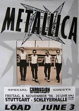 Original Konzertplakat Metallica 8.11.1996  Stuttgart, Schleyerhalle