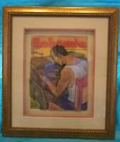 CUBAN ARTIST ADIGIO MODERN ART 3-D PAINTING