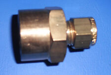 """Brass Wade Compression COUPLING / CONNECTOR  1/2""""F x 1/4"""" Copper  Plumbing & Gas"""