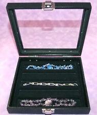 Necklacebracelet Glass Top Jewelry Display Case Blk