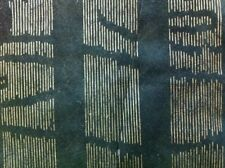 Dark Green Gold Stripes Novasuede suede alcantara leather marine trimming fabric