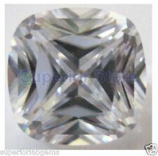 7 x 7 mm 1.75 ct  CUSHION  Cut Sim Diamond, Lab Diamond WITH LIFETIME WARRANTY
