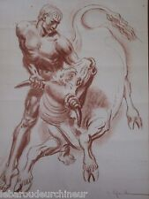 Lithography signed Marcillac