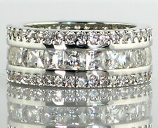 Antique Imperial ETERNITY BAND 4.2 Ct CZ Engagement Bridal Wedding Ring - SIZE 6