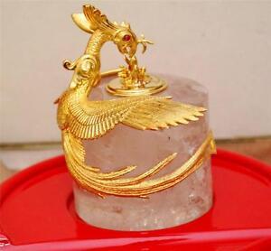MONTEGRAPPA ETERNAL BIRD INK POT SOLID 18 KARAT GOLD VERY RARE # 18/50 BRAND NEW