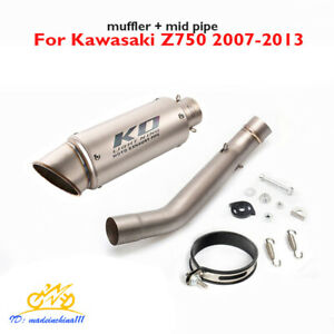Motorcycle Exhaust Silencer Escape Link Pipe System for Kawasaki Z750 2007-2013