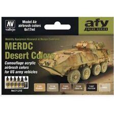 US Desert MERDC Colors: 6 Airbrush Paints for Model Vehicles (Vallejo 71212)
