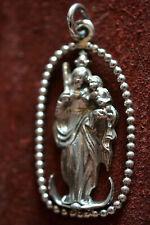 Charivari Amnhänger Madonna Königin m.Zepter u.Jesuskind 925 Silber