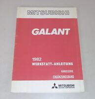 Workshop Manual Mitsubishi Galant A 160 Supplement Body from Year 1982