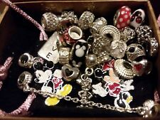 20+PC PANDORA w/ MINNIE MICKEY ZABLE BRIGHTON W/EURO CHARMS POUCH LOT PT2502