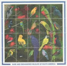 Guyana - 1990 - Rare Birds -  Sheet Of 20 - MNH