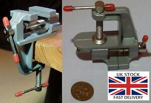 "Jewellery Makers Vice 36mm 3.5"" mini Portable table clamp-UK STOCK"