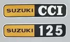 SUZUKI T125 STINGER 1972 SIDE PANEL DECAL KIT