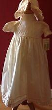 Silk Christening Gown Ivory girls age 0-3 months BNWTS
