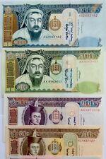 BANKNOTES MONGOLIA 10 20 50M 1 5 10 20 50 100 500 1000 Tugriks UNC 11 Pcs SET