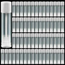 60x 5.5ml Plastic Lipstick Tubes DIY Lip Balm Empty Cosmetic Gloss Containers