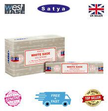 Original Satya Genuine White Sage Incense Sticks Joss FULL BOX (12x15g Pack)