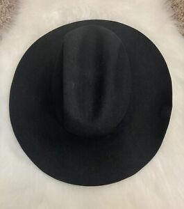 Bailey Double X Fur Blend Beaver Cowboy Felt Hat Black Men's Sz. 7 3/8 - 59 GUC