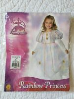 Rubie's Girl's Rainbow Princess Costume SZ/M (5-7) Excellent Condition