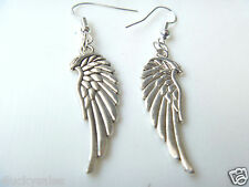 Hot 1 Pair Classical Angle Wings Punk Silver Plated earring Wholesale all Store