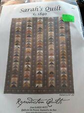 Sarah's Quilt c. 1840 Reproduction Quiltsby Karen Witt Pieced QUILT PATTERN
