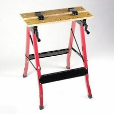 Portable Fold Up Folding Workbench Work Vise Bench Clamp Table Saw Horse Vice