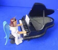 Erzgebirge Blank - Engel am Flügel Klavier  farbig  Langrockengel
