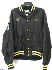 Holloway Black & Canary Yellow Varsity Jacket XL - Vietnam Man Vet - POW MIA