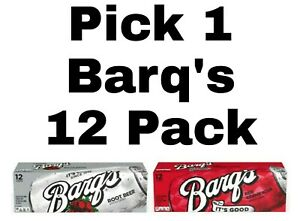 Pick 1 Barq's Soda Pop 12 Pack: Red Creme Soda or Root Beer