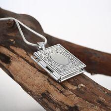 925 Silber Anhänger zum öffnen Medaillon Amulett für 2 Fo. Aufklappbar Medallion