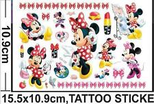 MINNIE MOUSE childrens Temporary Body Tattoo Stickers Party Favors Gift