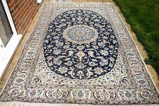 £4750 John Lewis Persian Nain hand woven silk & wool rug 300 x 200 cm Antique