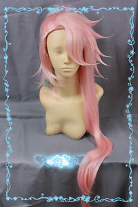 """82 Warm Pink 100cm/40"""" Long Styled Cosplay Wig Free Wig Cap"""