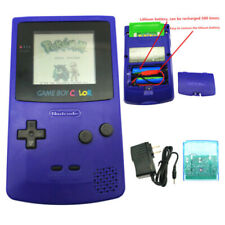 Royal Blue Rechargeable Nintendo Game Boy Color GBC Console With Card W/ Charger