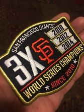 San Francisco Giants 3x World Series Commemorative Embroidered Patch