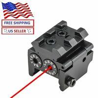 Mini Red Dot Sight Laser w/ Rail Mount f/ Pistol Handgun Low Profile Rifle US