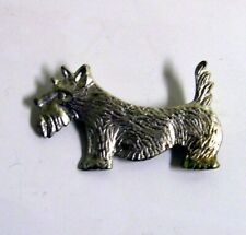 Scotish Terrier Dog Silver Pin Detti Originals