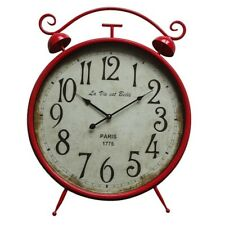 Yosemite Home Décor Fire Station Wall Clock, Red - 5140005